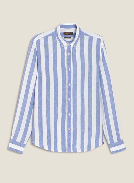 Donatien Stripe Linen Shirt LS