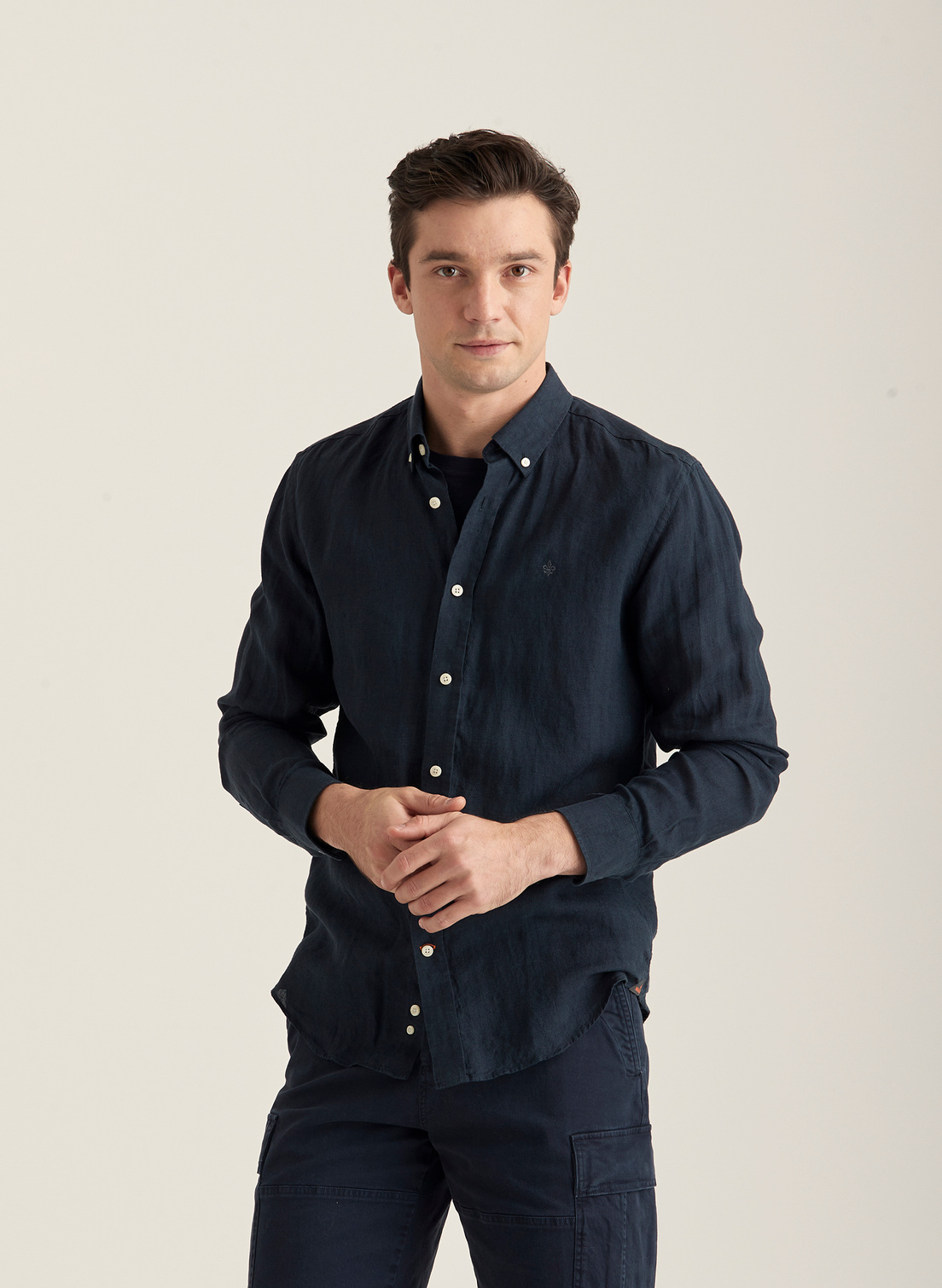 Douglas BD Linen Shirt LS