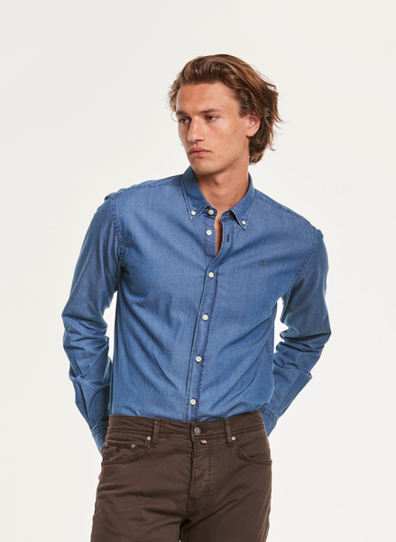 Julian Button Down Denim Shirt